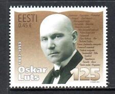 Estonia estampillada sin montar o nunca montada 2012 125th aniversario del nacimiento de Oskar Luts