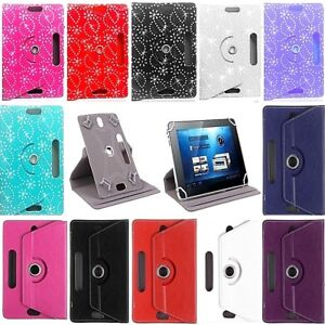 "7"" 8"" 9.7"" 10 inch Case Cover PU Leather For Android Tablet PCNew Rotating 360°"