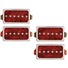 2 Sets Single Coil Pickups Bridge and Neck Set for Guitar Parts Red Pearl