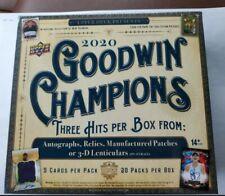 2020 Goodwin Champions Hobby Box Look for Michael Jordan Lebron James Auto