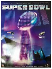 Super Bowl LII NFL Philadelphia Eagles New England Patriots Official Programme