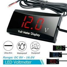 NEW Car Motorcycle 12V Digital LED Display Voltmeter Voltage Gauge Panel Meter