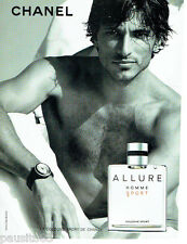 PUBLICITE ADVERTISING  016  2009  CHANEL  eau de Cologne Allure Sport homme
