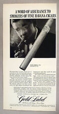 Gold Label Havana Cuban Cigars PRINT AD - 1962 ~~ cigar, Palma Candela