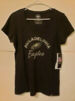 Philadelphia Eagles NFL Team Apparel Women's V-Neck T Shirt '47 Brand NWT