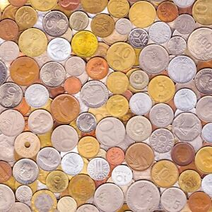 10 OLD COINS MADE IN 80's. DIFFERENT COLLECTIBLE COINS FROM EIGHTIES 1980-1989
