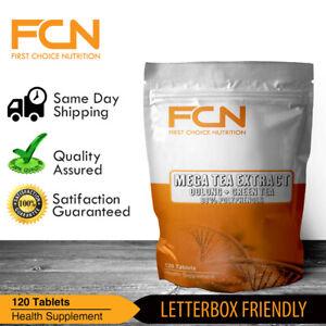 Green Tea extract & Oolong Tea extract x 120 Tablets STD 98% Polyphenols 45%EGCG