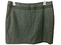 The Limited skirt above knee Size 14 black gray womens pencil lined