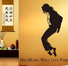 Dancing MUSIC LIFE Michael Jackson Removable Wall Sticker Home Decor Room Vinyl