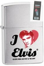 Zippo 28258 i love elvis presley brushed chrome Lighter + FLINT PACK