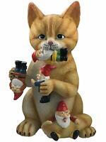 Cat Gnome Statue Massacre Figurine - Best Cats Garden Gnomes - Funny Home Decor