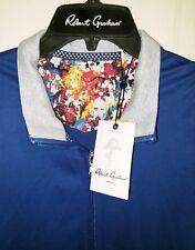 Robert Graham Alan Full Zip Jacket Mens 3XL NWT $198.00 Navy Blue