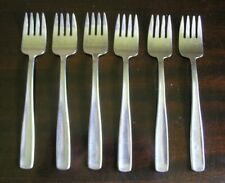 """Set of 6 Gense Sweden """"Facette"""" Salad Forks Stainless Steel Flatware"""