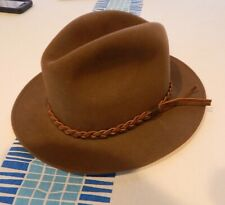 "FEDORA MANS HAT Bailey of Hollywood "" Josh "" small  wool fur olive green"
