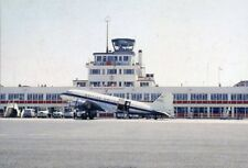 Airliner Postcard BUA DC3 Jersey Airport G-AOUD