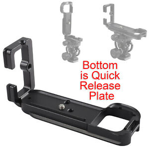 L-shaped Quick Release Plate/Camera Holder Grip for Tripod Ball Head&Sony a7/a7R