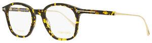 Tom Ford Titanium Eyeglasses TF5484 056 Dark Havana/Gold 48mm FT5484