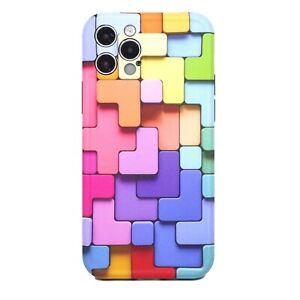 "Pellicola+Custodia cover per Apple iPhone 12 Pro 6.1"" COLORFUL blocchi colorati"