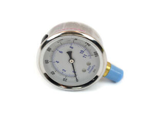 Canton Racing Products S/S Accusump Gauge 0-160psi- Liquid Filled