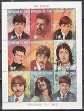 Chad 721-724K The Beatles Rock Band Mint NH