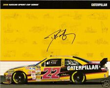 2008 DAVE BLANEY signed autographed NASCAR PHOTO CARD CATERPILLAR DODGE RACING