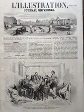 "L' ILLUSTRATION 1854 N 589 LA CONFERENCE DE VARNA ( Bulgarie) SUR LE "" CHEHPER """