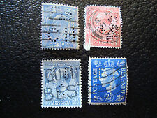 ROYAUME-UNI - 4 timbres perfores obl (A4) stamp united kingdom