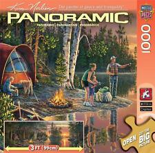 MASTERPIECES PANORAMIC 1000 JIGSAW PUZZLE CATCHING MEMORIES KIM NORLIEN CAMPING