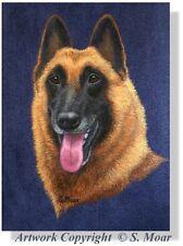 Belgian Shepherd Malinois Dog Headstudy Dog OE Art Print Berger Belge SMOAR
