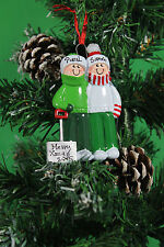 PERSONALISED CHRISTMAS TREE DECORATION ORNAMENT  SHOVEL   FAMILY OF 2