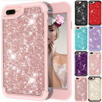 Luxury Glitter Bling Shockproof Hard Bumper Cover Case For iPhone 6 6s 7 8 Plus