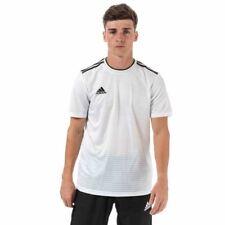 Para Hombre Adidas Condivo 18 Calce Ajustado Camiseta Jersey de cuello redondo en blanco