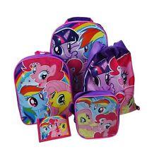 Licenza Ufficiale per Bambini My Little Pony scuola 5 pezzi set di bagagli da viaggio