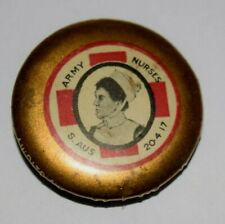Australia Wwi (1914) Army Nurses Day, Color Pin Back, Button Badge, Clear