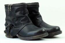 scarpe donna stivali stivaletti tronchetti eco pelle nero anfibi nuovi