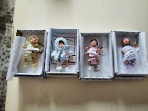 "Ashton Drake Sweet as You Please Collection Lot of 4 Vinyl 4.5"" Dolls"