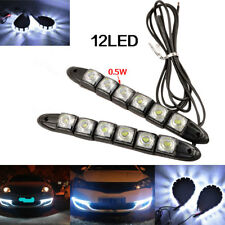 2X Car 6 LED Daytime Running Light Strip 12V DRL Driving Fog Lamp Day Light Lamp