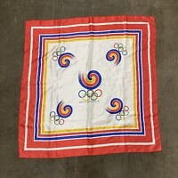 Vintage Games Of The XXIVth Olympiad Seoul 1988 Scarf Flag OS Olympic Games