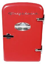 Retro Mini Fridge 6-Can Portable Compact Refrigerator Store Snacks and Beverages