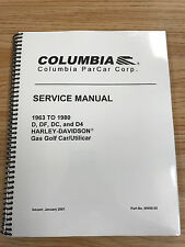 Harley Davidson Gas Golf Cart Repair Manual 1963 - 1980