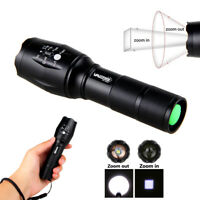 Super Bright Tactical Military LED Flashlight 1 Modes High 2000Lm Zoomable Torch