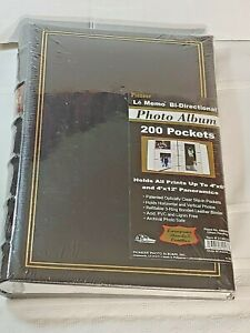 """Pioneer Leather Photo Album Holds 200 Pictures 4"""" x 6"""" And 4"""" x 12"""" New Sealed"""