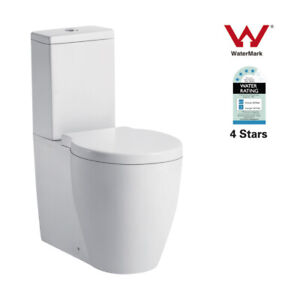 Round High Toilet Suite Ceramic Wall Faced Soft Close  Seat P/S Trap