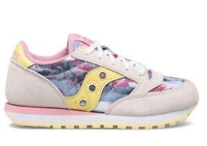 Scarpe da donna Saucony Jazz SK165137 sneakers casual sportive leggere bianche