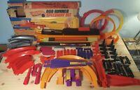 Huge Lot Vintage Hot Wheels Mattel Track Connectors Curves Loops Redline 140 pc+