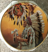 """Chief Wolf Plume"" Collector Plate by Paul Calle- The Franklin Mint"