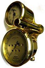 STEWART BRASS SPEEDOMETER WITH CLOCK MODEL T FORD PACKARD SPEEDWELL THOMAS FLYER