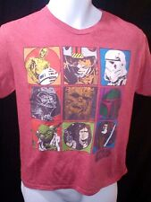 Star Wars 9-Character Licensed Men's Red T-shirt, Size XL, EUC