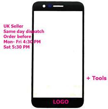LG K10 2017 X400 M250 M250N LCD Pantalla Táctil de Cristal Exterior Frontal Negro