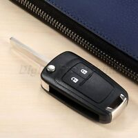 1Pc Car Remote Key Fob 2 Buttons 433MHz ID46 Chip With Battery Fit For Cruze